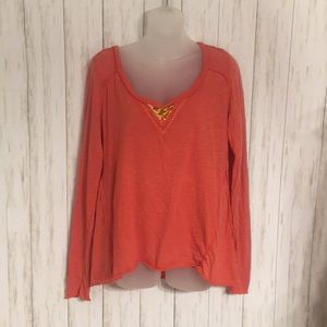 Size L Free People Beaded Long Sleeve Shirt